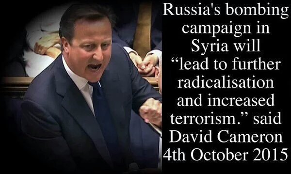 David Cameron 58 days ago vs. David Cameron yesterday #TerroristSympathiser #SyriaVote