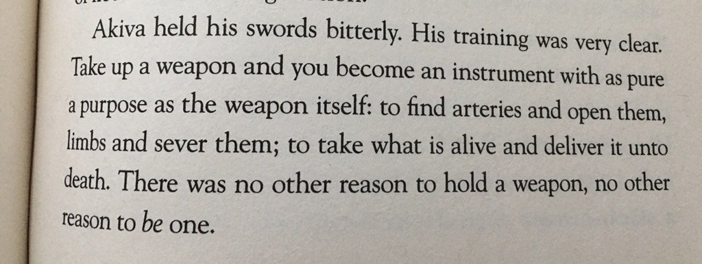 From DAYS OF BLOOD & STARLIGHT. It's not complicated. Weapons exist for one reason. https://t.co/7g7ByQ2Sf1