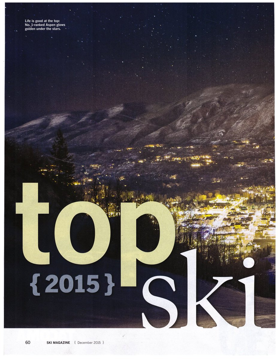 The votes are in & the Top #SkiTown in 2015 according to @skimagonline is...@AspenCO! We totally agree ;) https://t.co/R6oUV3uGvy