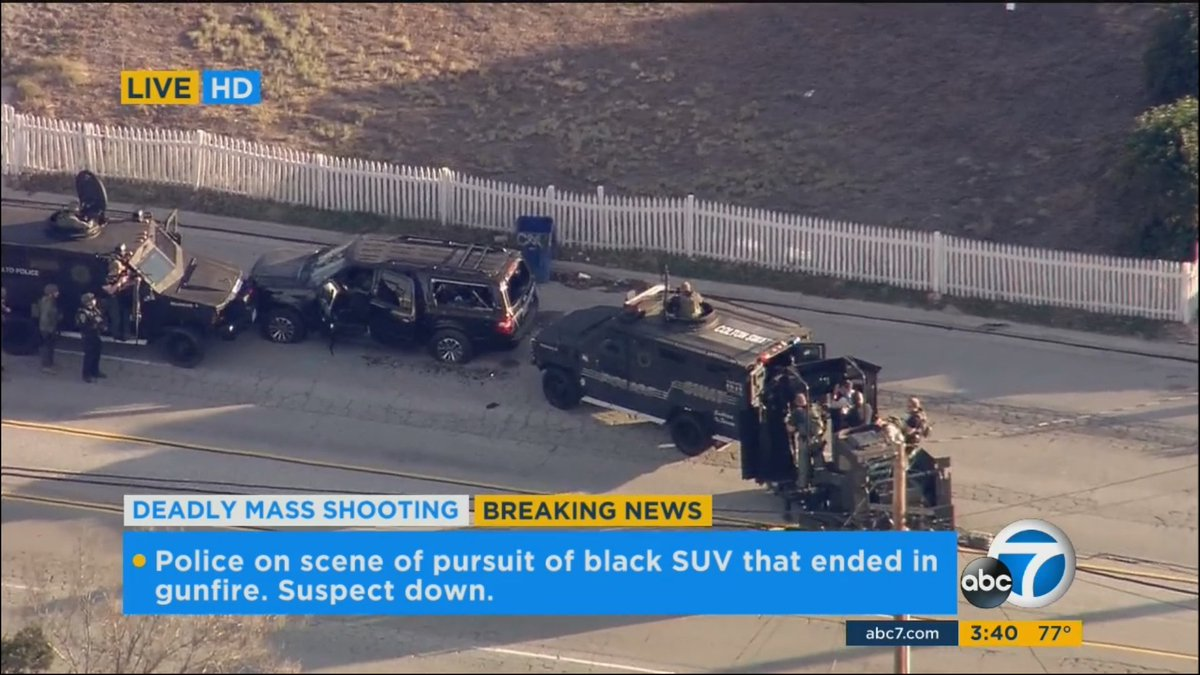 Officers using special tactical equipment to approach black SUV https://t.co/u5lTveiQy0 https://t.co/b0lyNc7YMG