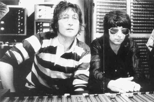 John Lennon con Phil Spector