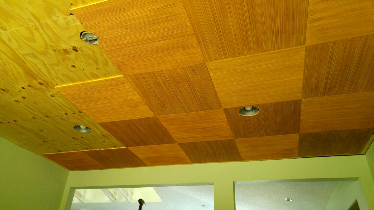 Eichler Siding On Twitter Our Combed Plywood Used As Ceiling Tiles