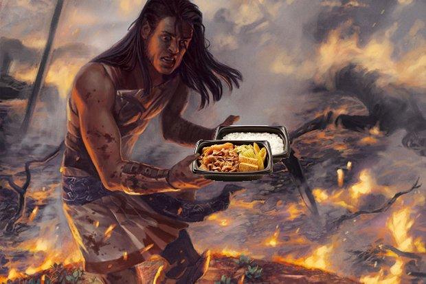 戦火に【牛すき焼き弁当】が舞い降りた!