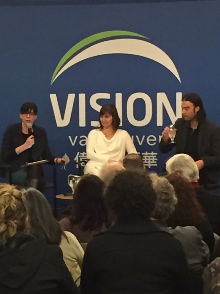 @andreareimer presents @VisionVancouver #greenest city event https://t.co/d3om3tTy3p