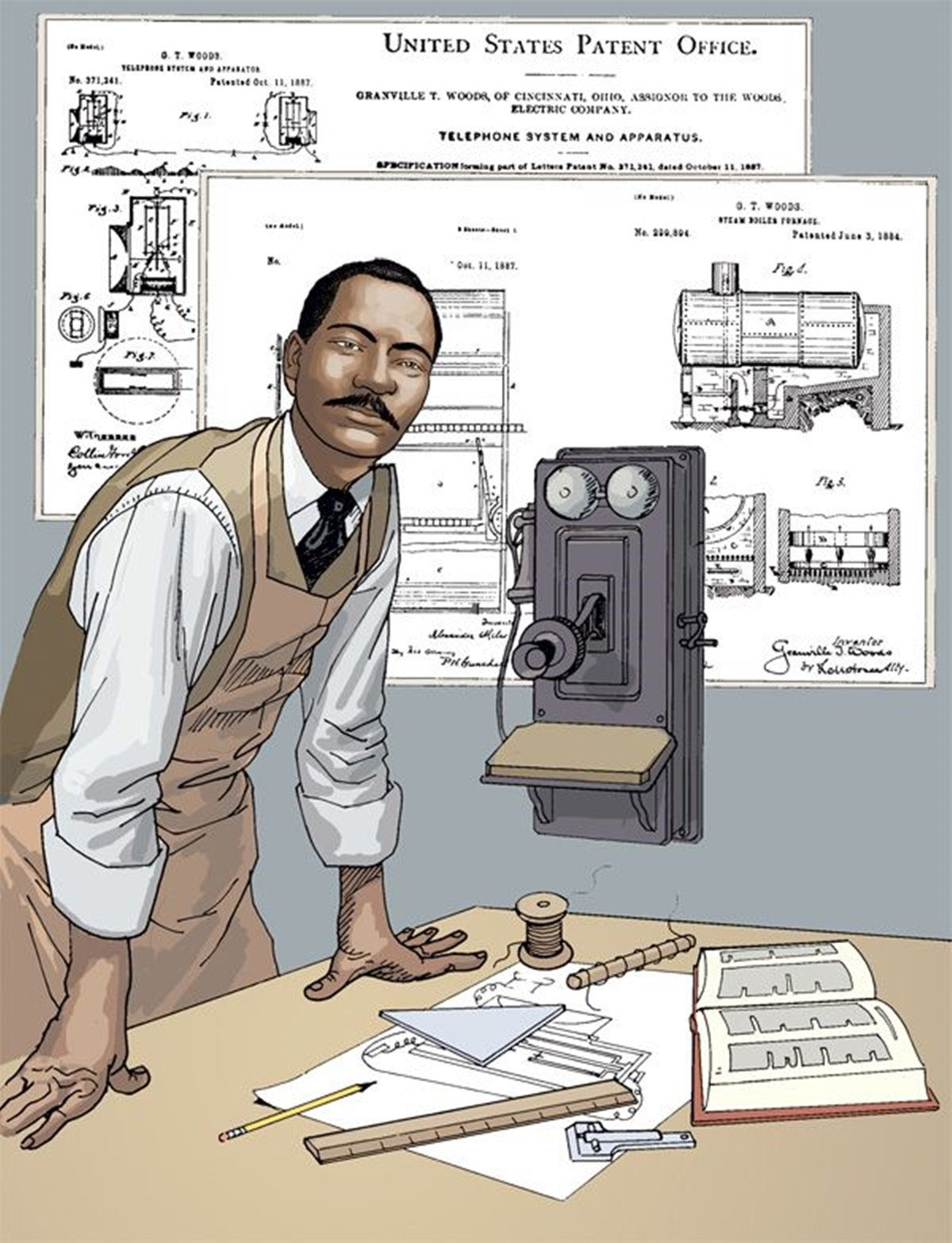 Black History Heroes On Twitter 12 2 1884 Inventor Granville T Telephone Transmitter Woods Patents Us Patent 308876 Stem Https Tco Iz1wjss2ik