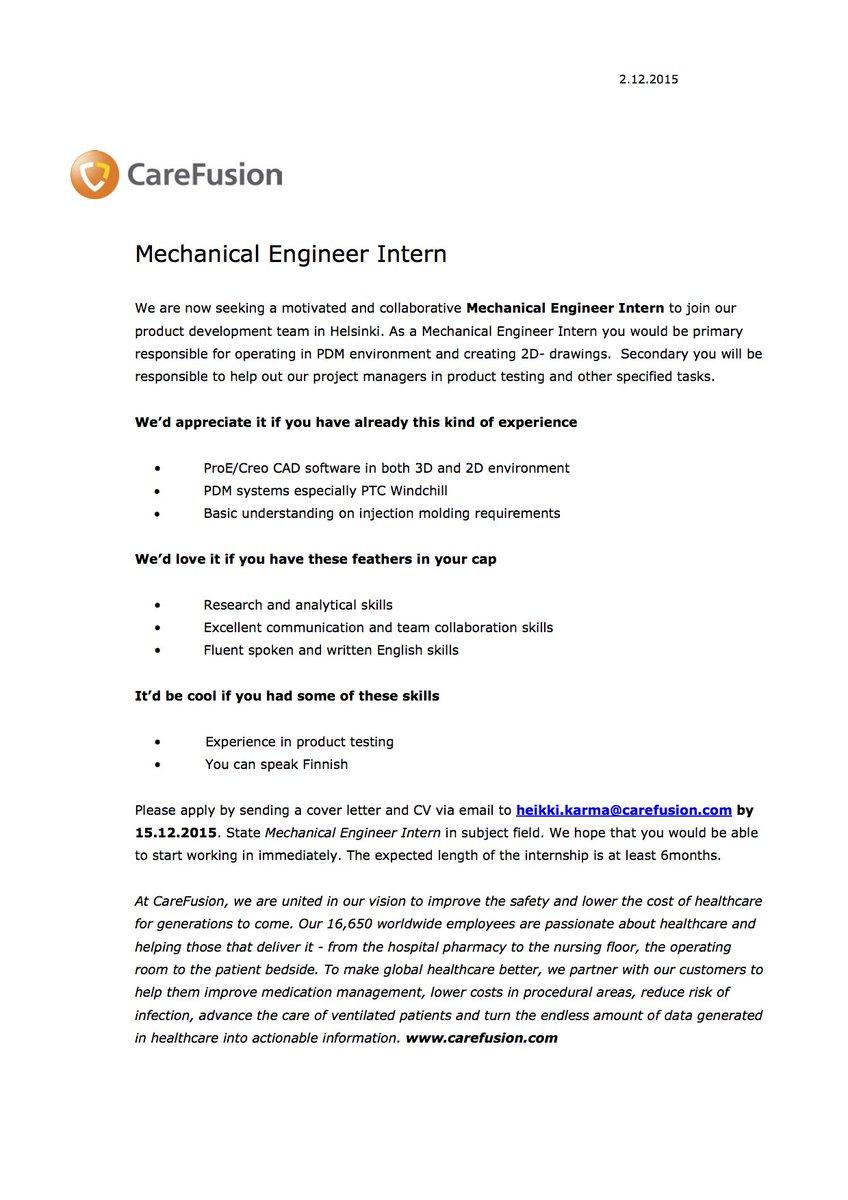 cover letter mechanical engineer internship  89 cover