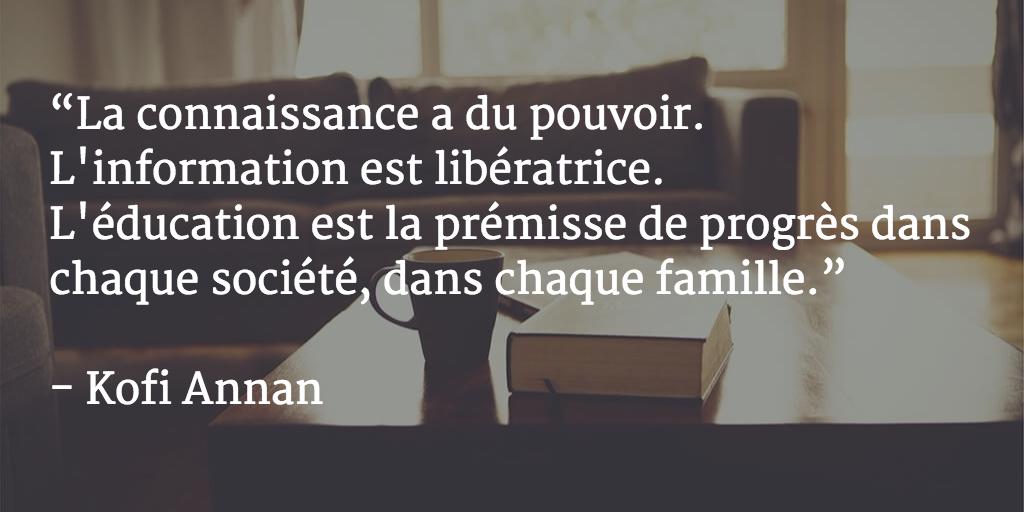 Xwiki On Twitter Hier Une Citation De Kofi Annan Et