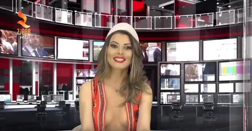 Naked News Anchor Reverse Stripping - Free Porn