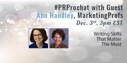 #PRprochat is TODAY! #highfive https://t.co/obPG2WocNR
