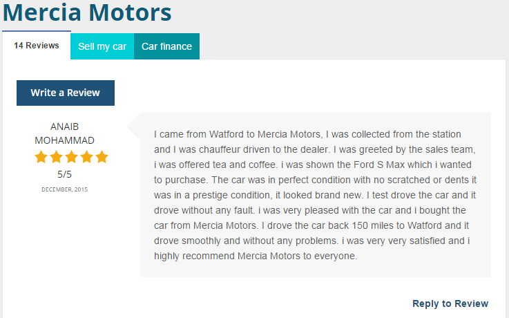 Car Dealer Reviews >> Car Dealer Reviews On Twitter Excellent Review For Mercia Motors