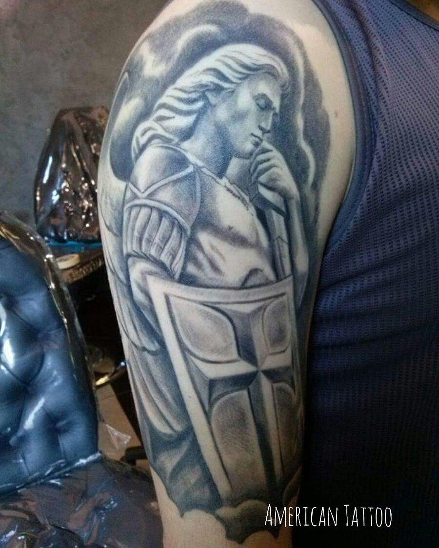 American Tattoo On Twitter Arcangel San Miguel By Nacho Httpst