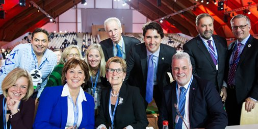 #TBT It was great to be with Premiers, Aboriginal and Opposition leaders representing Canada at #COP21 https://t.co/J9xsJrp9T5