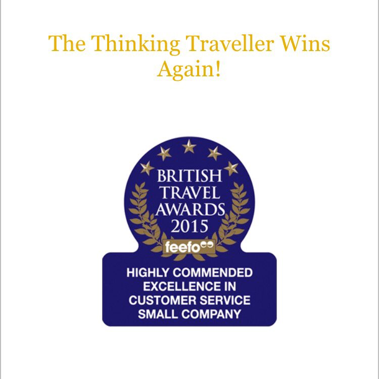Congratulations to our friends @ThinkVillas for the Excellence in Customer Service award @BritTravAwrds #votebta15