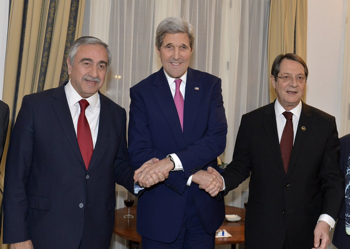 President AKINCI came together with U.S. Secretary of State Kerry and Greek Cypriot Leader Anastasiades over dinner. https://t.co/0G2N8WufM5