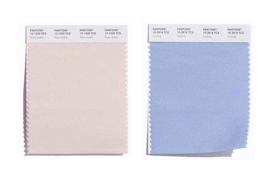 Light Blue Serenity Pink Rose Quartz Are The Pantone Colors