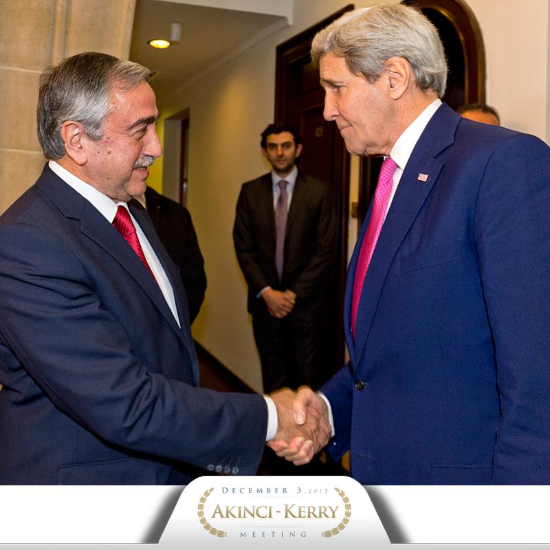 The meeting between President Mustafa Akıncı and U.S. Secretary of State John Kerry has just begun. https://t.co/iZhhOpdBjh