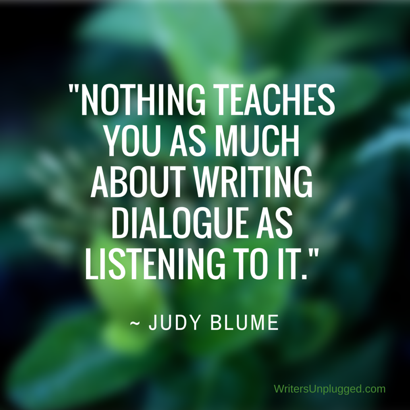 """Nothing teaches you as much about writing dialogue as listening to it."" ~ Judy Blume #amwriting https://t.co/eRaOnp4HVu"