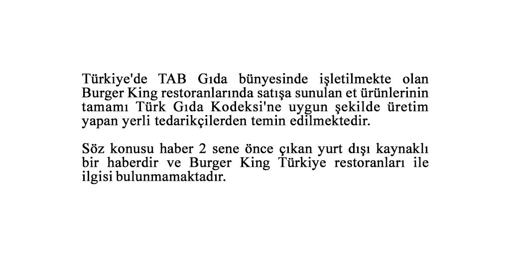 Burger King haberlerine dair kamuoyunun bilgisine https://t.co/bGNFrvZfXZ