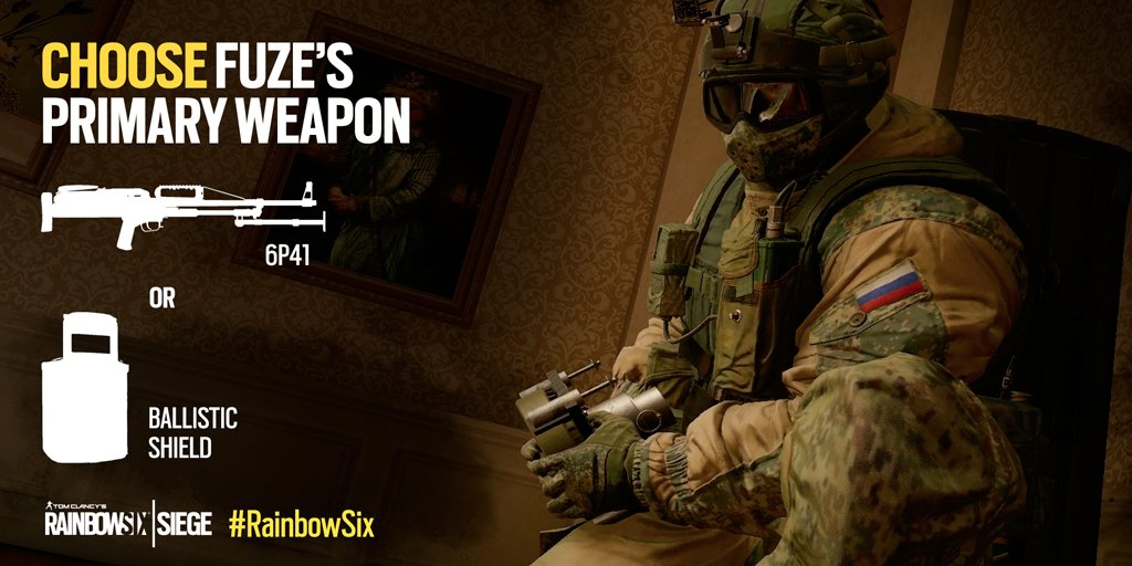 Rainbow Six Siege On Twitter Which Weapon Would You Arm Fuze With