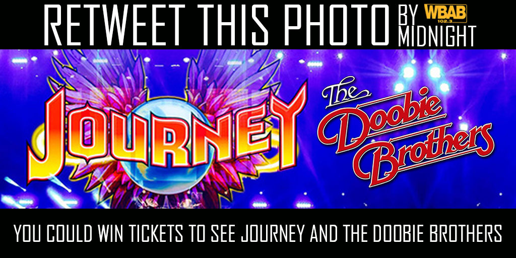 Retweet by Midnight & you could win tix to @JourneyOfficial & @TheDoobieBros @NikonJBT  1 random winner @JoeRockWBAB https://t.co/mGxD8aMaB6
