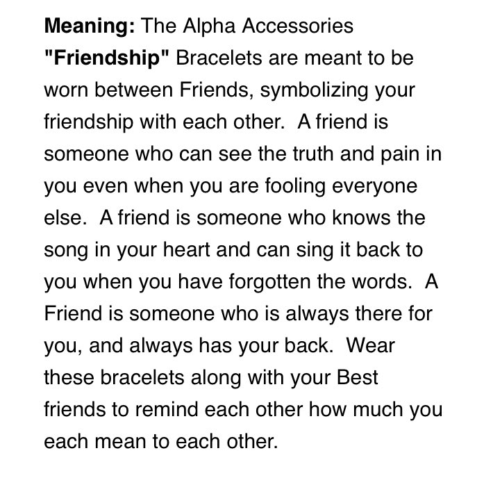 Introducing our 'Friendship' Bracelets