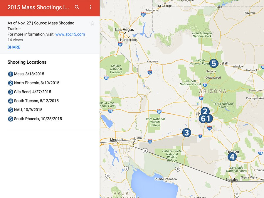 Mass Shootings By State Map.Courtland Jeffrey On Twitter 6 Mass Shootings In Az So Far This