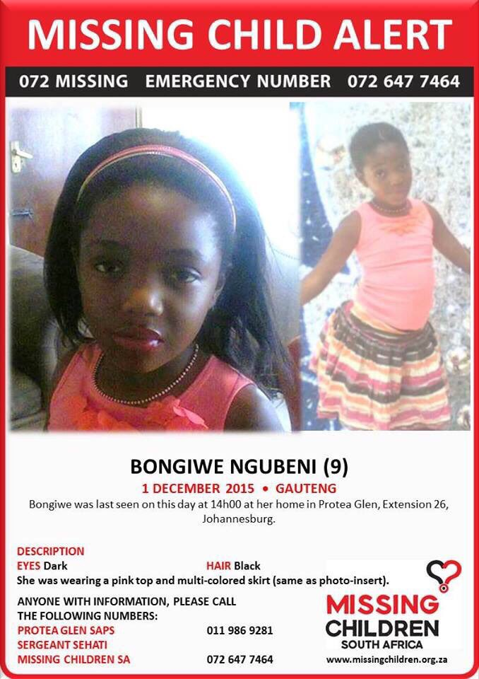 Please help find this little girl. Please RT