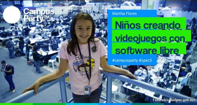 Martha Flores de Ecuador con 10 años es la ponente más joven de #campusparty #softwarelibre https://t.co/Lg9GBWvWja https://t.co/h93IHF4e4G