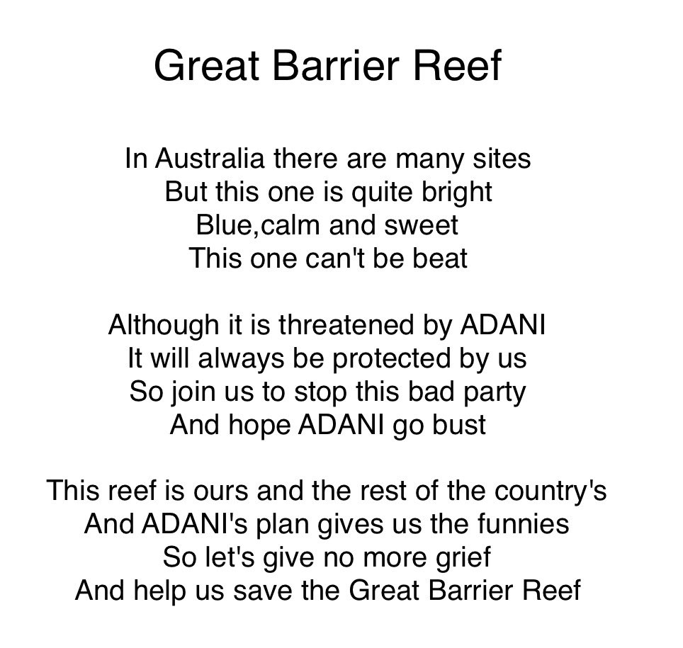 "From The Great Poem: No Grief To The Reef On Twitter: ""Poem Made By William"