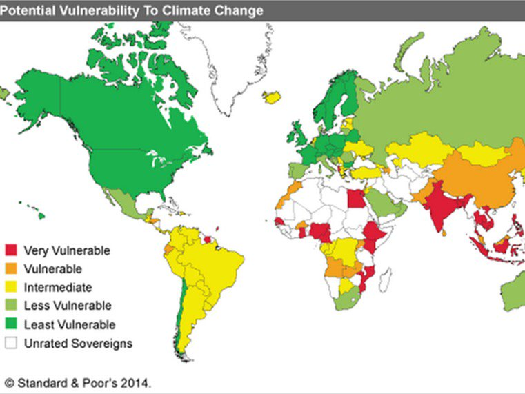 Vulnerability to #climate change. Developing countries most threatened! The global map: https://t.co/1VTn4N05B8