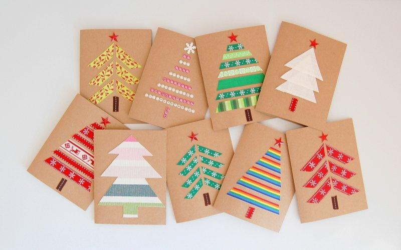 Как сделать открытки новый год, открытки