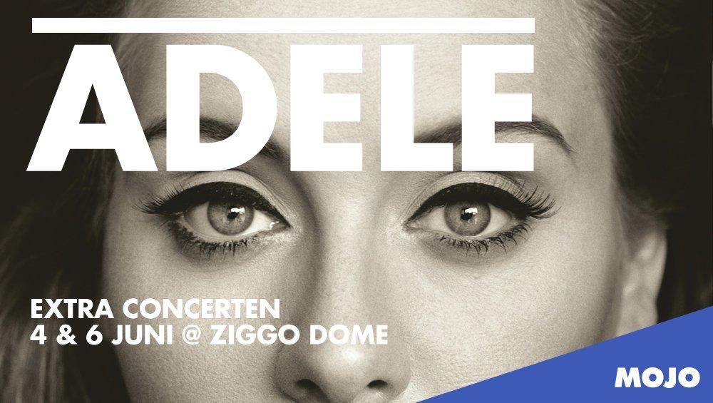Extra concerten Adele op 4 en 6 juni @ZiggoDome! Kaartverkoop start maandag om 10.00u: https://t.co/xQKGyxHHMS. https://t.co/l4AyHtcWIx