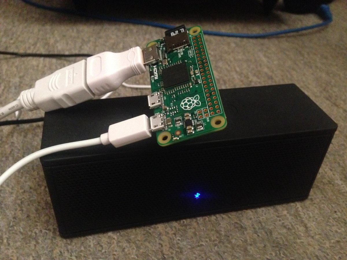 Tiny tiny #pizero media centre coming together with AirPlay. https://t.co/CaSXXX8AZ9