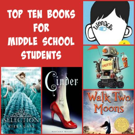 pragmaticmom on twitter top 10 books for middle school