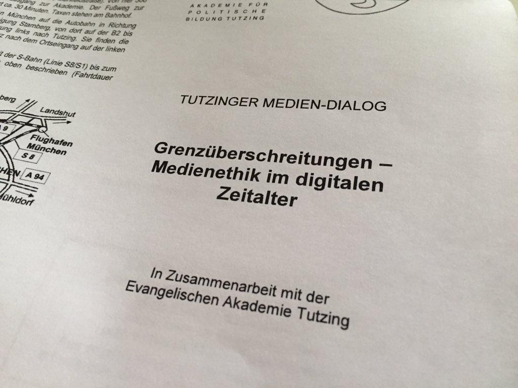 Thumbnail for #tumedi15: Tutzinger Mediendialog zur Medienethik
