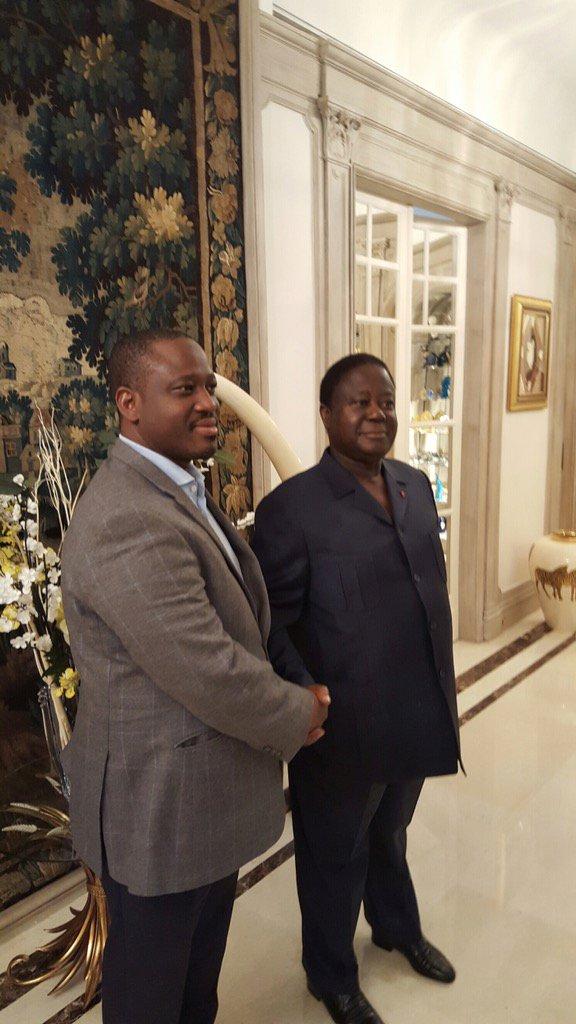 Kablan Duncan a rencontré samedi à Paris lex-président