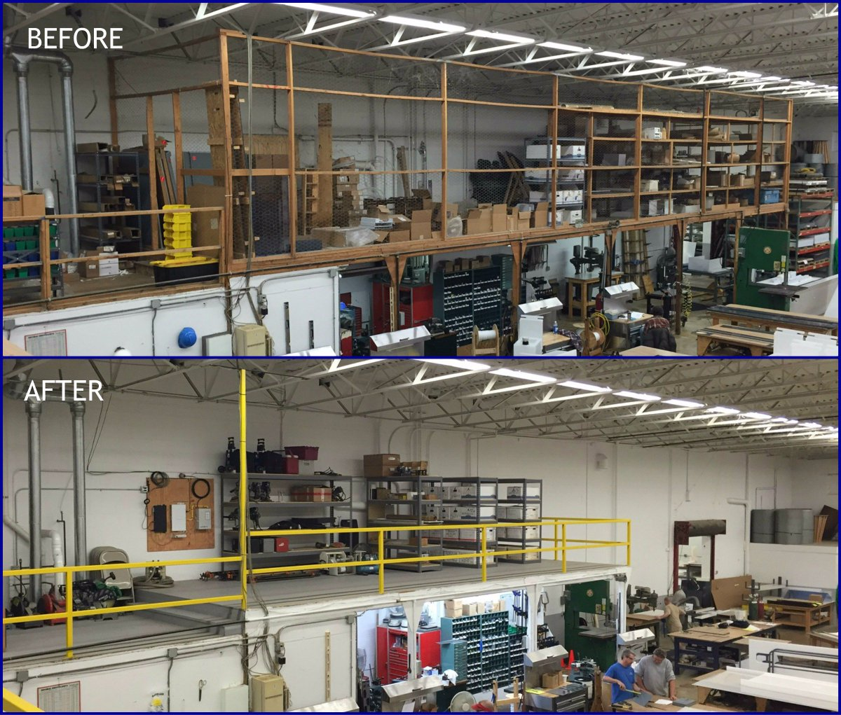 "Aetna Plastics On Twitter: ""Aetna Plastics Mezzanine #5S Project Before/After. #beforeandafter"