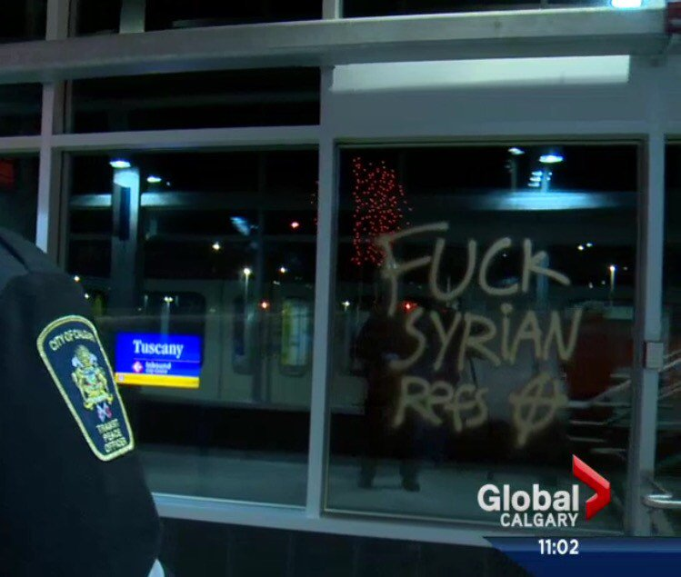 So apparently this happened last night in The Most Tolerant Country Ever in Life®™ #Canada #Calgary https://t.co/hgR6pnfSfC