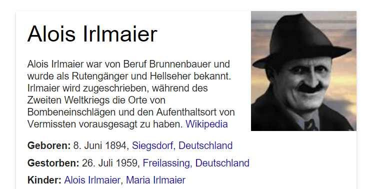Weltkrieg alois irlmaier dritter Gerd Gutemann: