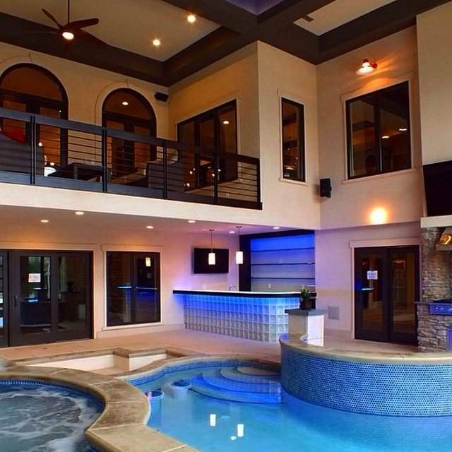 Home indoor pool with bar  Luxury Goals on Twitter: