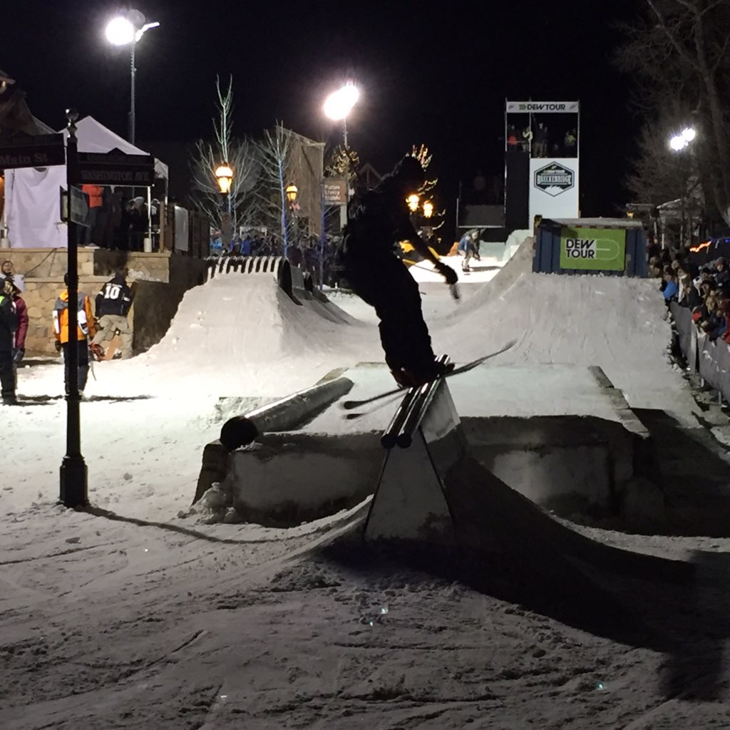 Great scene tonight in downtown Breck for the @DewTour Streetstyle. Nice work @TownofBreck @GoBreck @djdcbreck https://t.co/w3eS3NcbC4