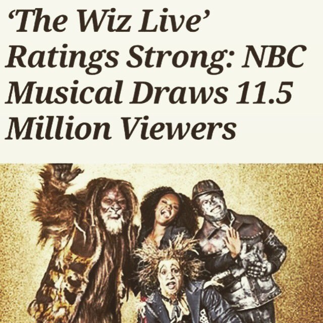 #TheWizLive brought 11.5 Viewers to @nbc https://t.co/A66xUCs0TK