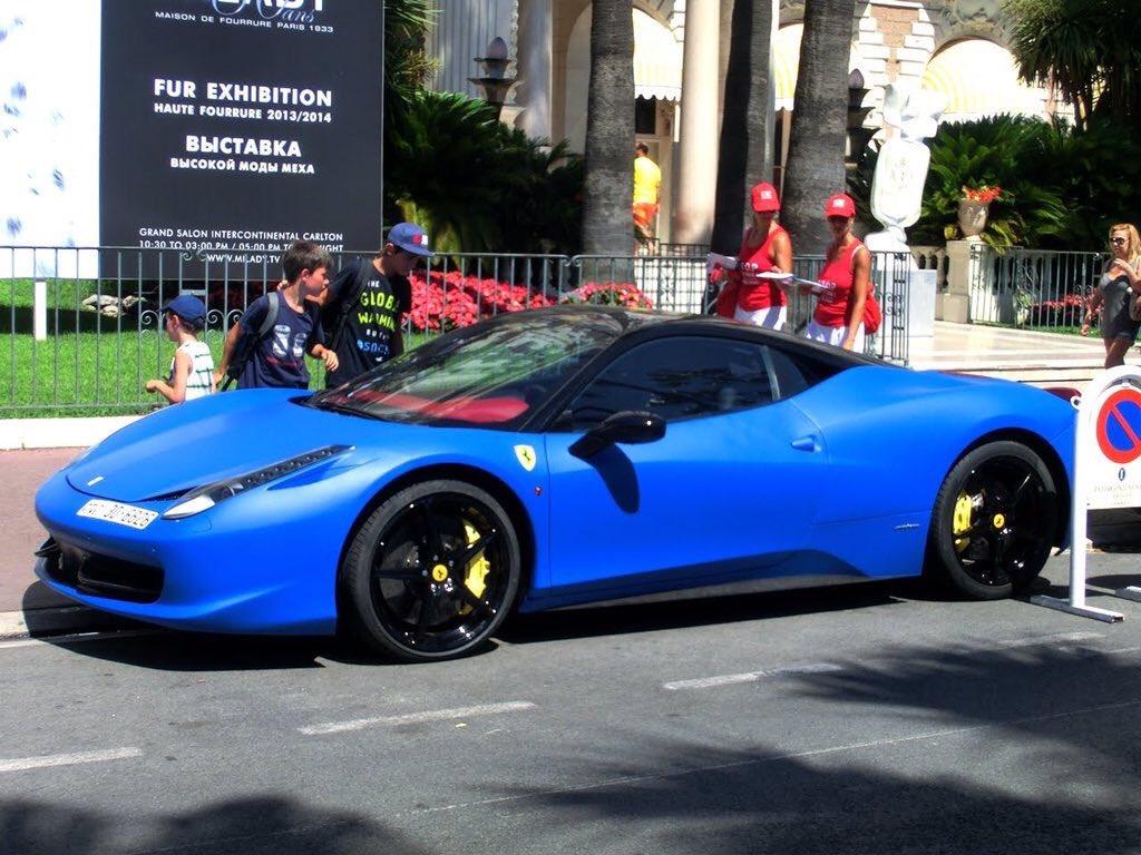 On Twitter Ferrari 458 In Royal Blue Https T Co V6f8ng5pgs
