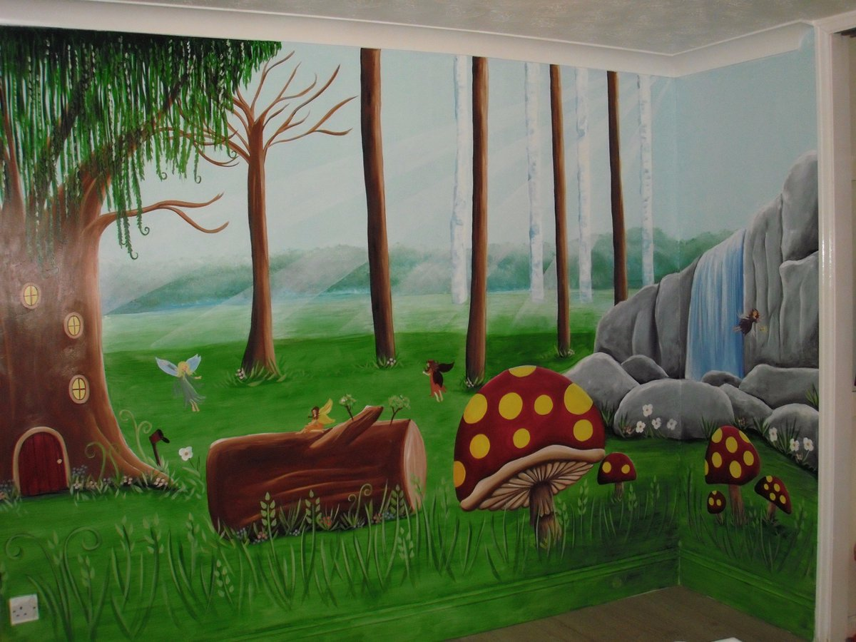 Custom Murals On Twitter This Enchanted Forest Girls Bedroom