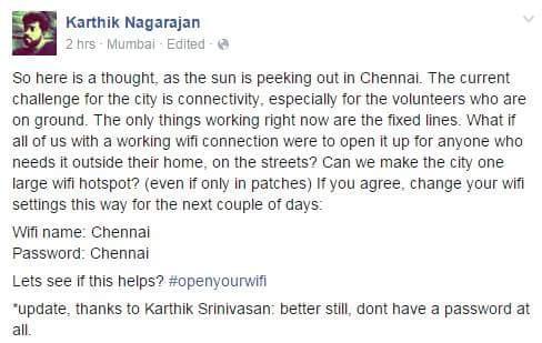 #ChennaiRainsHelp Great idea! Please share! https://t.co/uERi1Z0eg9