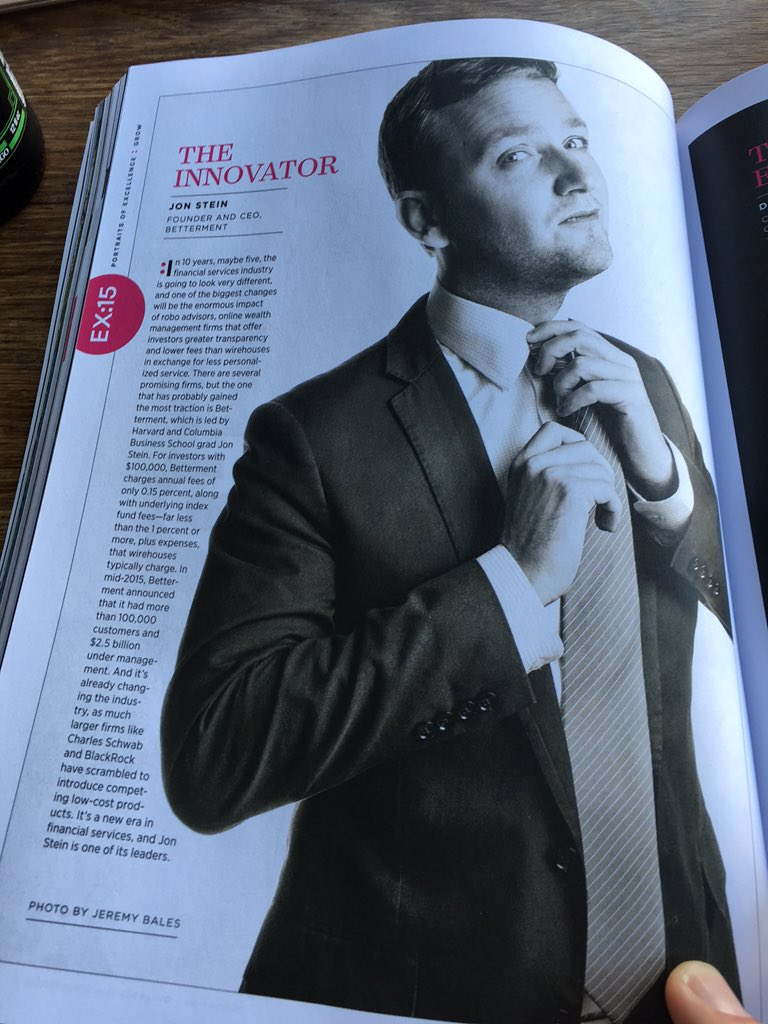 Nice full page of @jonstein/ @Betterment in the new Worth magazine. https://t.co/EcC5lnu3BL