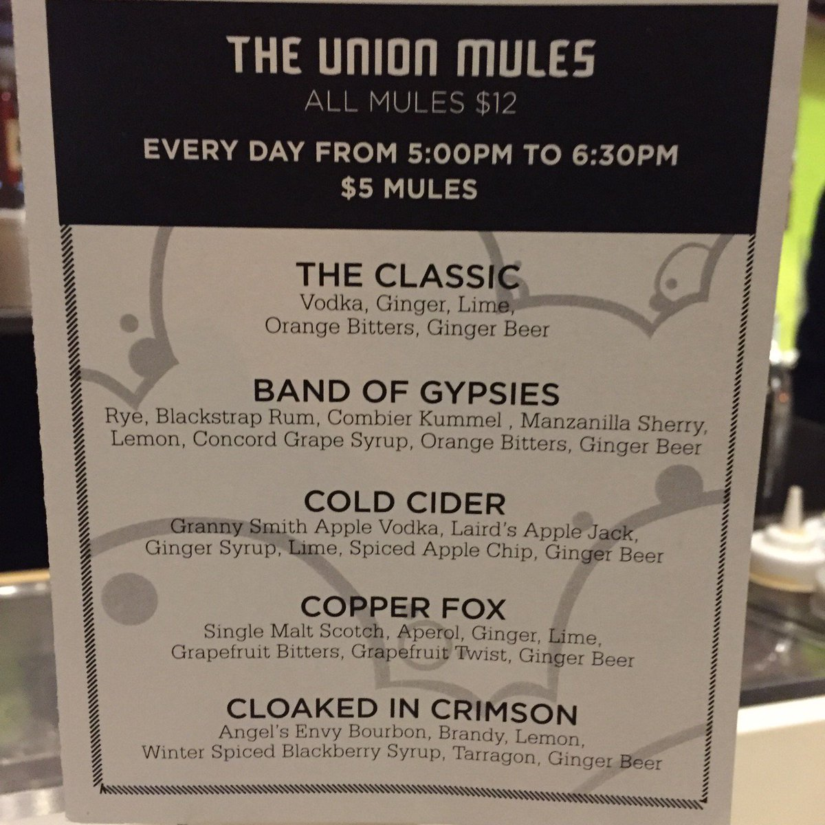 happy hour $5 mules #FTW (@ Union Sushi + Barbeque Bar - @eatatunion in Chicago, IL) https://t.co/57aUZC9Bkc https://t.co/0EJnYp6L6a
