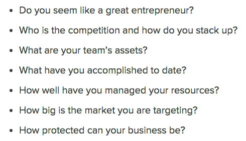 Here's a list of questions investors will ask themselves after you pitch a company to them. https://t.co/TMeUfBNJcD https://t.co/zOJDOrq0na