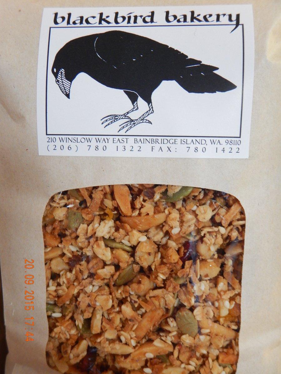Blackbird Bakery rich locally made granola
