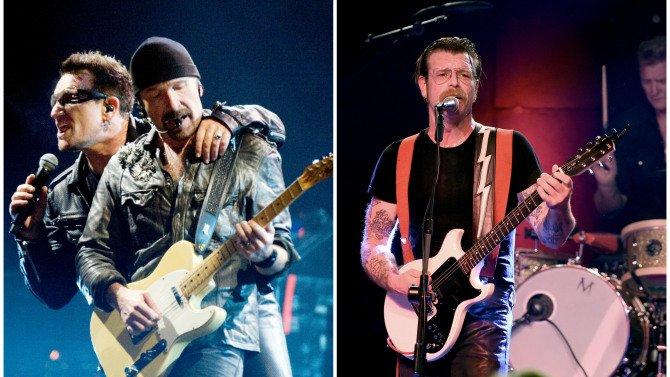 Eagles of Death Metal regresa a los escenarios de #París con U2 tras los ataques terroristas.